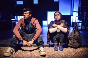 Tamasha's production of Blood.  Adam Samuel-Bal (Sully) and Krupa Pattani (Caneze). Photo credit - Robert Day (2)